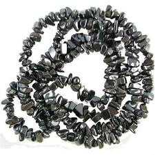 """Hematite Chip Beads 34"""" - 36"""" Endless Strand or Necklace Medium Chips"""