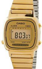 Casio Ladies LA670WGA-9 Watch Gold Steel Band Digital Classic Vintage New