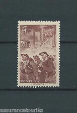 MINEURS - 1938 YT 390 - TIMBRE NEUF* trace de charnière