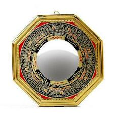 "4.8"" Chinese Oriental safe Protection Feng Shui Home House Convex Bagua Mirror W"