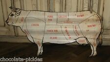 BiG COW BUTCHER MEAT CHART Wall SIGN/Message Board*Primitive Farmhouse Decor