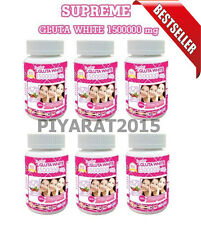 6 X SUPREME GLUTA WHITE 1500000 mg V-SHAPE FACE HEALTHY WHITE SKIN +Tracking..