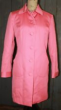 INC International Concepts Coral Pink FIlled & Lined Trench coat Large EUC