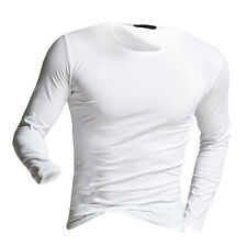Fashion Winter Warm Men's Slim Fit Long Sleeve T-shirts Tees Shirt Tops Pullover
