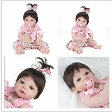 22'' Full Body Vinyl Silicone Handmade Lifelike Reborn Baby Girl Doll Cute Gift