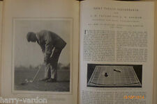 Old Antique Photo Golf Article 1905 J H Taylor Hickory Putting Stymie G W Beldam