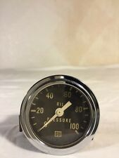 VINTAGE STEWART WARNER OIL PRESSURE GAUGE HOT RAT ROD 127208