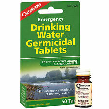 Coghlans Emergency Drinking Water Germicidal Tablets 50 Count Survival Camping