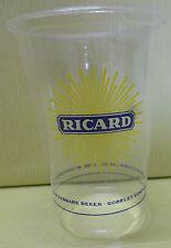 GOBELET RICARD  EN  PLASTIQUE TRANSPARENT, LOGO GRAND SOLEIL , 20 CL , VR328