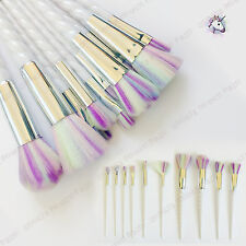 New Professional Cosmetic kabuki Rainbow Horn Style 10 pcs Make-up Brush Sets