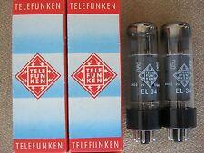 2x EL34 / 6CA7   power tubes TELEFUNKEN - o -getter  -  NOS  -  EL 34