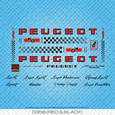 Peugeot PX/PY10 bicyclette decals-transfers-autocollants-rouge & noir-set 356