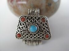 Sterling Silver Gau Locket ~ Beautiful small ghau pendant