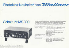 Prospekt Wallner Photokina 1984 MS 300 MC 505 CA 526 LMC 100 526 LMC Fotolabor