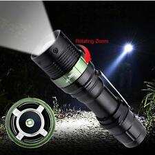 6000 LM Zoomable CREE XM-L Lampe de poche LED 3 Modes 18650 AAA Focus Torch ED