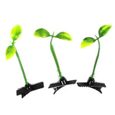 15pcs Funny Grass Leaf Plant Sprout Flower Headwear Hairpins Hair Clip On Sale D
