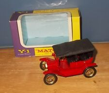 Matchbox Yesteryear Y1-2 Model T Ford Car Black Textured Hood Issue 6