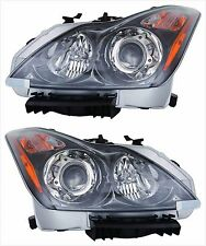 Driver+Passenger HID Headlights for 2011 2012 13 INFINITI G37 Convertible/Coupe