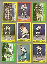 1973 - 74 Topps Hockey Set VANCOUVER CANUCKS Near Team Set Lot