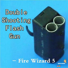 Double Shooting Flash Gun (fire wizard 5 version),Stage Magic Tricks,Accessories