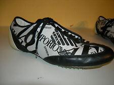 EMPORIO ARMANI Damen Turnschuhe Sneakers Textil Leder Italy Gr.41 LP350€ f.Neuw