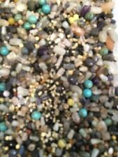 100 gr weight of mixed semi-precious stones beads for jewellery making drilled
