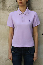 MARINA YACHTING vintage 80s Donna Viola Polo manica corta T Shirt Top Authentic M