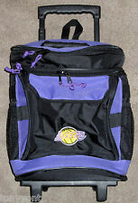 """Los Angeles LA Lakers Tailgate Insulated Rolling Wheeled 19"""" Luggage Cooler Bag"""
