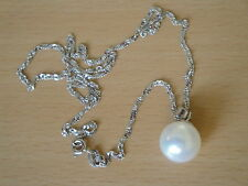 12mm White South Sea Shell Pearl Pendant-pn8