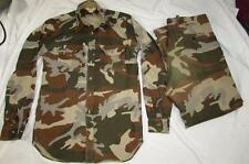 Vtg 70s 80s Cabela's USA Made Camouflage Camo Shirt & Pant Suit Hunting Gore Tex