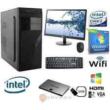 """PC DESKTOP INTEL QUAD CORE WINDOWS 7 PRO 8GB 1TB WIFI MONITOR 22""""TASTIERA MOUSE"""