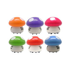 Ritzy Cute Mini Mushroom Corner Desk Table Dust Vacuum Cleaner Sweeper 2015 AGRU