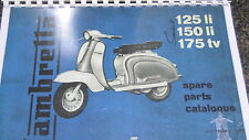 LAMBRETTA SERIES 2 PARTS LIST MANUAL CATALOGUE 125 LI 150 li 175 tv TV