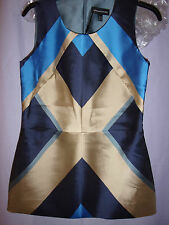 OSTWALD HELGASON new ladies TOP size 10 Mikado silk.THUNDER .lined rrp.£185
