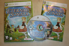 XBOX 360 RPG GAME ETERNAL SONATA + BOX + INSTRUCTIONS / COMPLETE PAL GWO