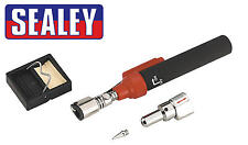 SEALEY Cordless Butane GAS Soldering/Solder Iron/Hot Air Torch Kit + Tip AK2941