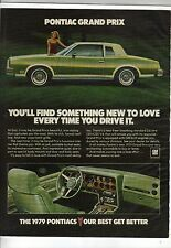 Original 1979 Pontiac Grand Prix Magazine Ad - You'll Find Something New ...