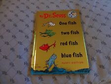 ONE FISH TWO FISH RED FISH BLUE FISH . DR. SEUSS . HC . 9.25 X 6.75  PARTY EDITI