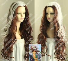 Newest X-Men - Rogue Brown White mixed cosplay Wig  &522