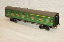 O gauge MODIFIED Lima mk1 Coach SR Southern Green 534257 Coarse Bogies SHORTENED