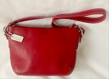 COACH Small Red Glove Leather Handbag