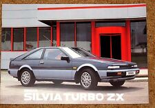 1986 NISSAN SILVIA TURBO ZX & DOHC Sales Brochure - Unread Brand New Old Stock!!