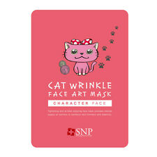 New SNP Cat Wrinkle Face Art Mask 25ml x 5 Sheet Mask Pack Lime Water Mask