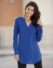 Top Placket Tunic - Size large  Blue NEW Shirt Monroe and Main