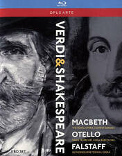 VERDI-VERDI:THE SHAKESPEARE OPERAS  Blu-Ray NEW