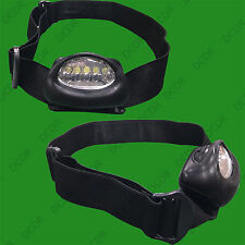 5 LED Bright Waterproof Head Lamp Torch, Camping Fishing Hiking Bike Flashlight