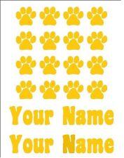 Paw Print Dog Dish Pet Food Storage Decals Stickers Custom Personalized