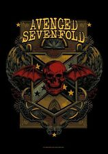 "AVENGED SEVENFOLD FLAGGE / FAHNE ""DEATH CREST"" POSTER FLAG"