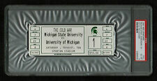 PSA 6 THE COLD WAR HOCKEY TICKET Michigan at Michigan State in Spartan Stadium