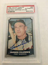 Harmon Killebrew signed 1988 Pacific Card Encapsulated & Authenticated SGC/ JSA